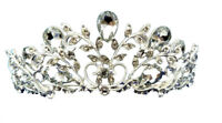 CRYSTAL TIARA - T155 - IDEAL FOR WEDDINGS, PROMS, CELEBRATIONS ETC.