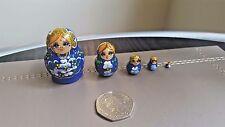 Russian tiny hand-painted MINI nesting doll, 5 dolls set