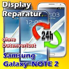 24 Stunden Display Reparatur Samsung Galaxy NOTE 2 Frontglas Reparatur Grau