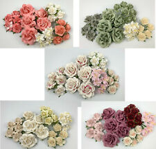 Special Set 35 Paper Flower Kit Packs Scrapbook DIY Card Wedding Craft Supply AP