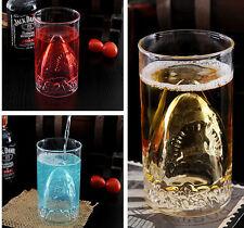 NEW Creative Fashion Glass Shark attack Coffee Cup / Mug  6399HC