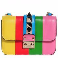 VALENTINO ROCKSTUD Va Va Voom 1973 Rainbow Multicolor Shoulder Handbag, Purse