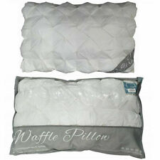 Pinch Pleat Pintuck Waffle Pillow 100% Cotton Ruffled Style Hollowfibre Filling