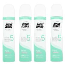 4-pack Right Guard Spray Antiperspirant Deodorant (Women) PURE 250ml Uncented