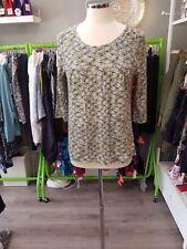 mistral basket weave top in green size 18