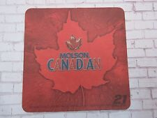 Collectible Beer COASTER ~ Molson CANADIAN Pale Lager ~ Montreal, Canada Brewery