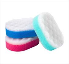 2 x 3 Pack Bath Shower Body Massage Bath Scrub Exfoliating Sponge New