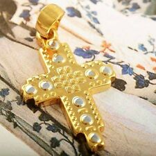 yellow gold filled cross pendant silver plated free shipping for men women