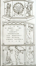 Montfaucon Antico Auguri Romani Mitologia Musica - Incisione XVIII