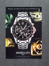 [GCG] K044- Advertising Pubblicità -2008- MORELLATO TIME , THUNDER CRONOGRAFO