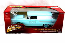 Johnny Lightning 1957 Ford Courier Sedan Delivery Blue / White 1/24 Diecast Car