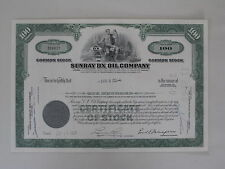 Historische Aktie - SUNRAY DX OIL COMPANY 1967 (100 Shares) mit Beiblatt
