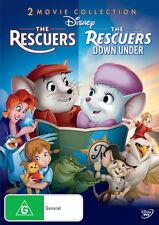 Disney: The Rescuers / The Rescuers Down Under * NEW DVD * (Region 4 Australia)