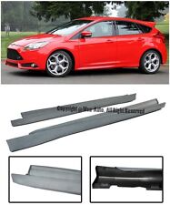 For 12-14 Ford Focus ST Style Conversion Side Skirts Rocker Panels Extension
