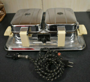 Vintage Manning Bowman Double Waffle Iron 2626 725 Watts, Tested and Working