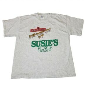 Vintage Budweiser Shirt Bud Logo Whassup at Susies Place