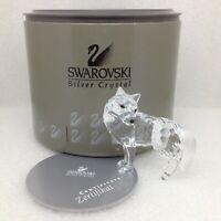 Swarovski Retired Crystal WOLF FIGURINE Austria Box and Certificate