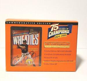 Mini Cal Ripken Wheaties 75 Yr. Box in Display Holder