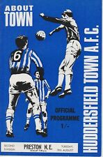 HUDDERSFIELD TOWN v PRESTON NORTH END ~ 19 AUGUST 1969 ~ FOOTBALL PROGRAMME