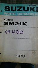 1973 Vintage Suzuki Snowmobile SM21K XR400 Parts Catalogue