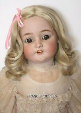 """perruque blonde Jumeau® BOUCLES T34/36cm poupée ancienne/moderne-Wig head sz14"""""""