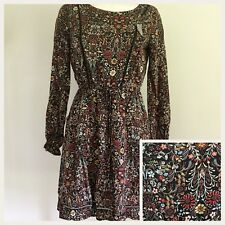 LC Lauren Conrad Womens Dress S Small Floral Autumn Ruffles Princess Tea
