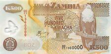 Zambia 500 Kwacha 2004 Unc Pn 43c Polymer Banknote