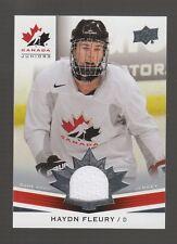 (55284) 2014-15 Upper Deck Team Canada Juniors Haydn Fleury Jersey #160