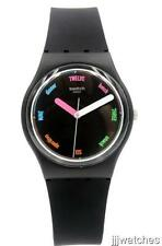 New Swatch Power Tracking The Strapper Black Silicone Watch 34mm GB289