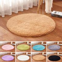 Fluffy Rugs Shaggy Area Rug Home Bedroom Carpet Round Floor Anti-Skid Mat Decor