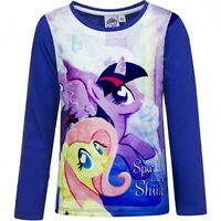 My Little Pony T-Shirt Size 3Y Long Sleeve Kids Characte Blue Top For Girls