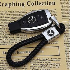 Mercedes Benz Key Ring Key Chain Car Key Holder CLK, CLS, G,E,A series.BLACK/RED