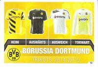 Match Attax Borussia Dortmund BVB 09 Trikots 2014/2015 Fußball Sammelkarte T4