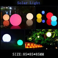 Solar Powered LED Ball Lights Outdoor Waterproof Pools Spa Garden Decking Lamp
