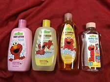 Lot Of 4 Sesame Street Baby Wash, Lotion, Oil & Shampoo Soap - Full Size