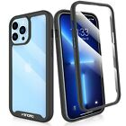 For iPhone 12 13 Pro Max,12 Mini Clear Case Cover With Built-in Screen Protector