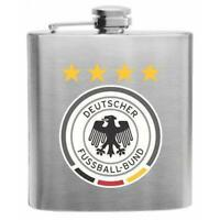 Germany Football Stainless Steel Hip Flask 6oz