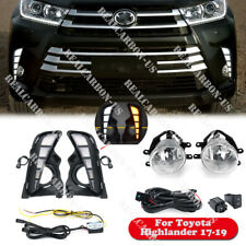 For Toyota Highlander 2017-2019 LED DRL Daytime Running Fog Lights Harness Kit