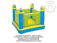 Intex castello gonfiabile jump O-Lene cm132x132x107h gioco per bambini mare pisc