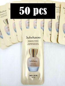 Sulwhasoo Perfecting Foundation Glow SPF17/PA+ No.21N Beige 1ml * 50 pcs