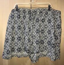 4X Ava & Viv Plus Sz Women's Black Ivory Print Pockets Pull-On Shorts NWT