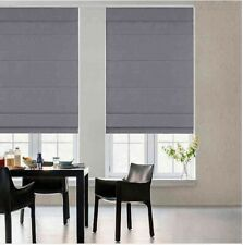 "$195 GLOWE Cordless Fabric Roman 34"" x 72"" Shade in Neutral Grey NEW"