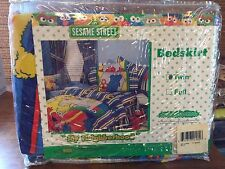 Sesame Street My Neighborhood Bedskirt Dust Ruffle Twin Bedding Brand New in Pkg