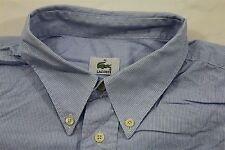 TC5242 LACOSTE Herren Freizeit Hemd Blau Weiß Streifen Kurzarm 44 wie Neu