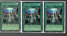 Yugioh Cards - Playset of 3x A Legendary Ocean LOD-078
