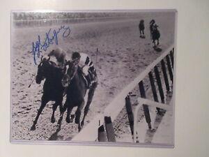 JORGE VELASQUEZ SIGNED PHOTO ALYDAR HORSE JOCKEY horse racing
