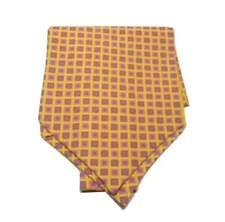 nuovo ASCOT seta uomo foulard collo giallo disegno quadri e fiorellini neW style