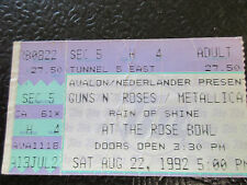 Guns N Roses Metallica 8/3/1992 Rose Bowl ticket stub Motorhead
