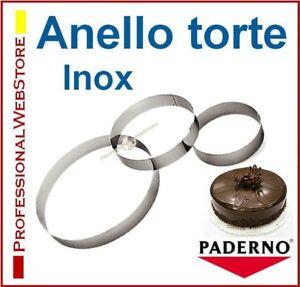 ANELLO per TORTE ACCIAIO cm 18 22 24 26 30 STAMPO TORTA TORTIERA TORTIERE STAMPI