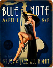 Blue Note Jazz Club Pin Up Metal Sign